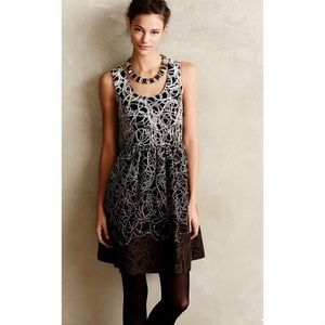 Maeve Anthropologie Fading Tracery Dress Fit Flare